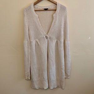 Theory Ivory Cardigan Sweater Size Large